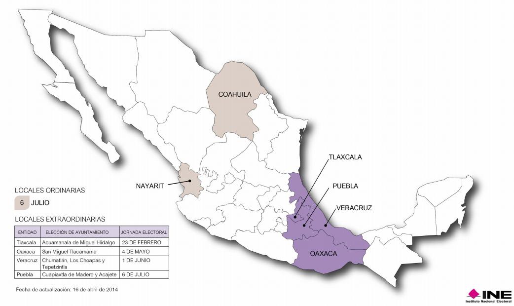Calendario Electoral 2014