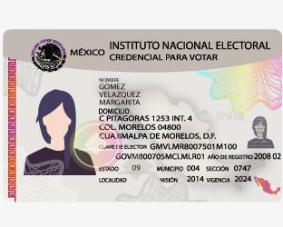 Trámite Credencial Tipo Instituto Nacional Electoral