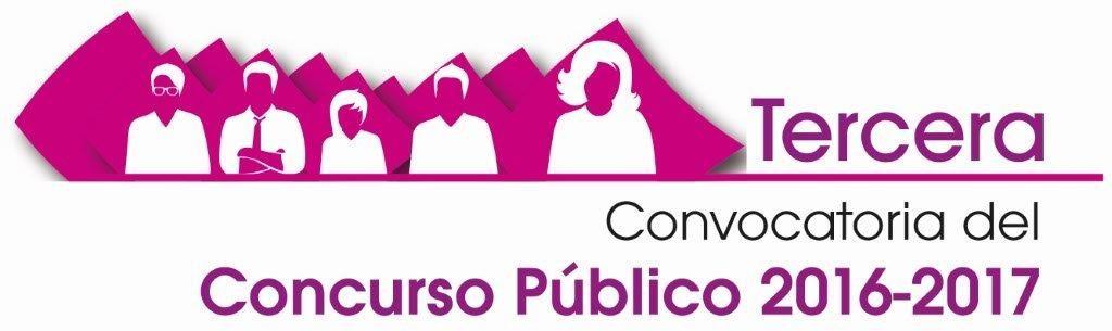 Logo Tercera Convocatoria del Concurso Público 2016-2017