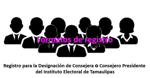 Registro para la designación de Consejero presidente del Instituto Electoral de Tamaulipas