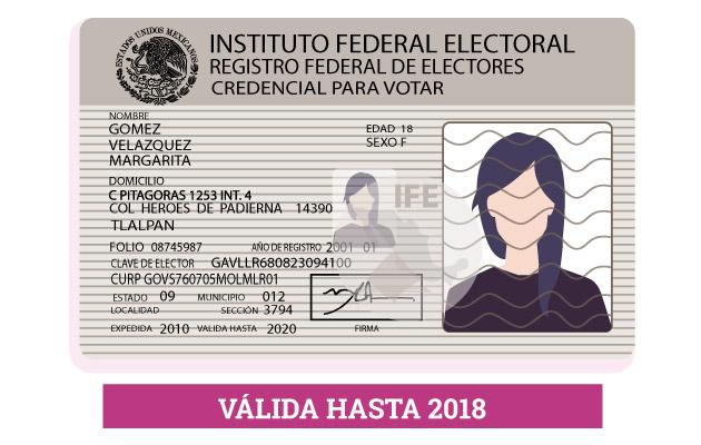 Renovación De Credencial Para Votar 18 Instituto Nacional