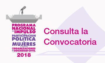 Convocatoria a OSC y público interesado a participar promoviendo acciones para impulsar la Participación Política de Mujeres