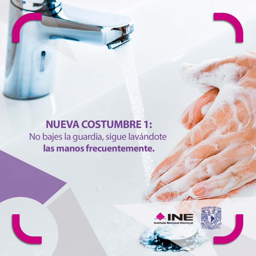 Nuevas costumbres: Sigue lavándote las manos frecuentemente