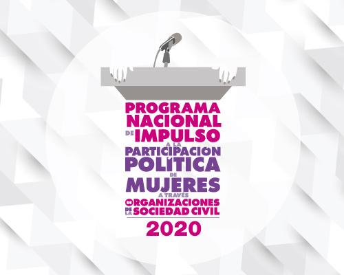Programa Nacional de Impulso a la Participación Política de Mujeres a través de Organizaciones de la Sociedad Civil 2020