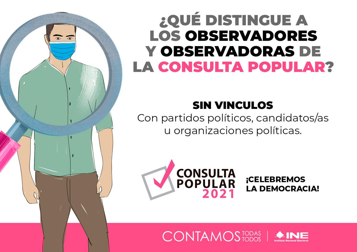¿Qué distingue a los Observadores y observadoras de la consulta popular?